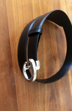 Cartier Waist Belt black-silver-colored leather