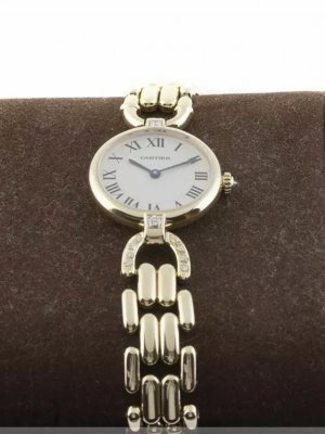 Cartier Lady Ronde 18k Gold mit Brillanten