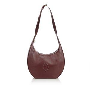 Cartier Shoulder Bag brown leather