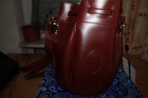 Cartier Pouch Bag bordeaux leather