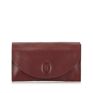 Cartier Pochette bordeau cuir