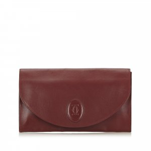 Cartier Mast de Cartier Leather Clutch
