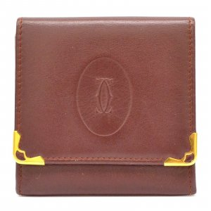 Cartier Portefeuille bordeau cuir