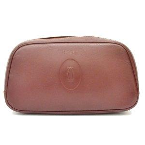 Cartier Clutch bordeaux leather