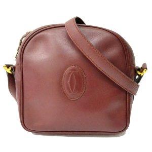 Cartier Shoulder Bag bordeaux leather