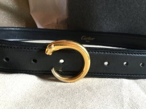 Cartier Panthere Gürtel., Leder schwarz