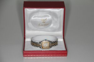 Cartier Watch With Metal Strap silver-colored-gold-colored