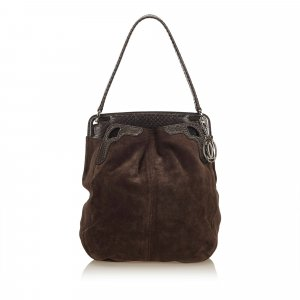 Cartier Python Suede Shoulder Bag