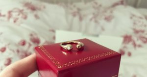 Cartier Ring Brilliant Gold Verlobungsring Ehering Luxus Goldring Love