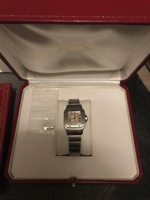 Cartier Santos mit Zertifikat Edelstahl Damen Uhr