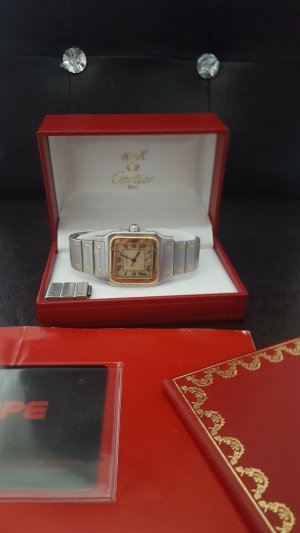 Cartier Reloj color plata-naranja dorado acero inoxidable