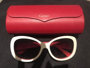Cartier Oval Sunglasses red-white