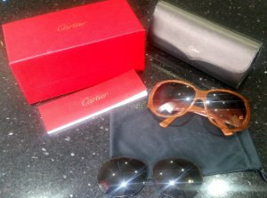 Cartier Oval Sunglasses multicolored