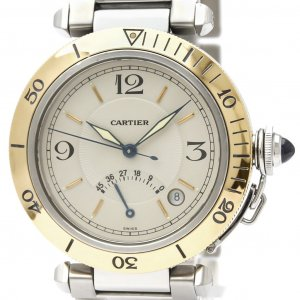 Cartier Stainless Steel and 18K Yellow Gold Pasha Automatic W31012H3