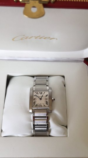 Cartier Tank francaise Stahl medium size