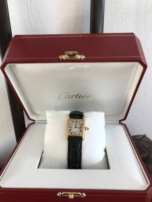 Cartier Tank Uhr schwarz/gold