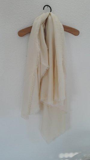 Cartier Ton in Ton Tuch Halstuch Schal Scarf Nude Creme Logo