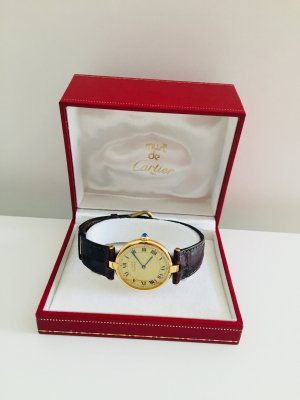 Cartier Vermeil Damenuhr