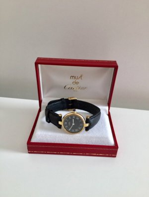 Cartier Vermeil Damenuhr mit Cartier Uhrenbox