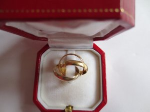 Cartier Gold Ring multicolored real gold