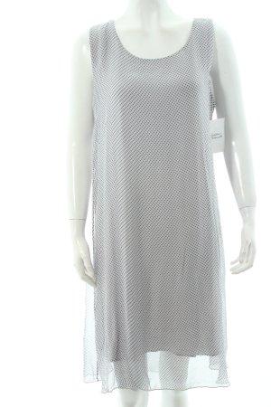 Cartoon A-Linien Kleid blassblau-dunkelblau Punktemuster klassischer Stil