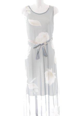 Cartoon A-Linien Kleid florales Muster schlichter Stil