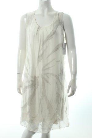 Cartoon A-Linien Kleid weiß-hellgrau Batikmuster klassischer Stil