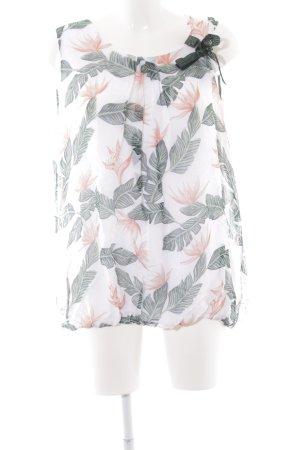 Cartoon ärmellose Bluse florales Muster Casual-Look