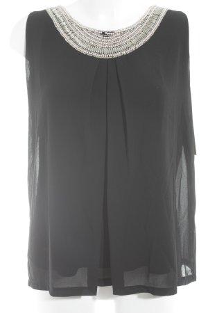 Cartoon ärmellose Bluse schwarz Elegant