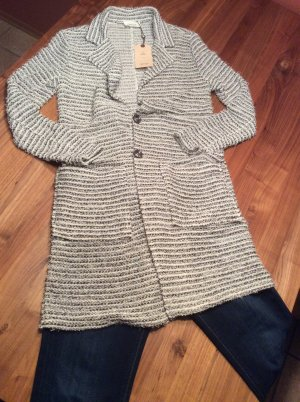 Cartoon Blazer-Jacke mit Struktur in nature/schwarz Gr.36