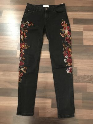 Cartoon Blumen Jeans
