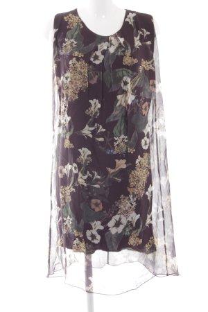 Cartoon Blusenkleid florales Muster schlichter Stil