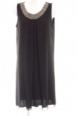 Cartoon Chiffon Dress black elegant
