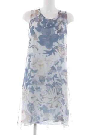 Cartoon Robe chiffon bleu clair-bleu motif de fleur élégant