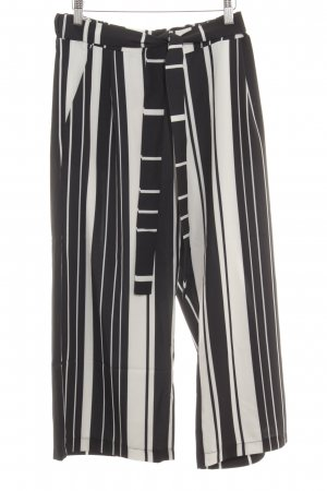 Cartoon Culottes black-white striped pattern simple style