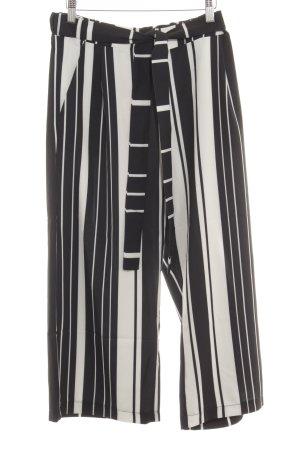 Cartoon Culotte noir-blanc motif rayé style simple
