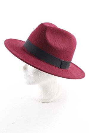 Cartoon Felt Hat bordeaux-black casual look