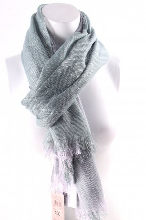 Cartoon Fringed Scarf sage green-grey lilac extravagant style