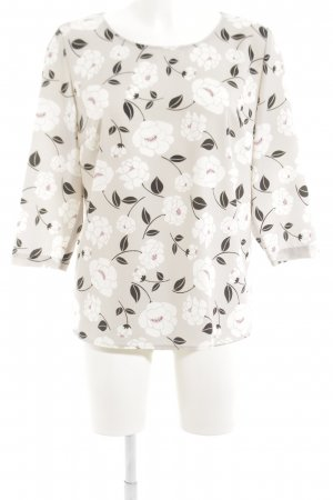 Cartoon Blouse brillante blanc cassé motif de fleur style d'affaires