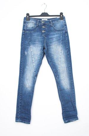 Cartoon Boyfriend Jeans cornflower blue