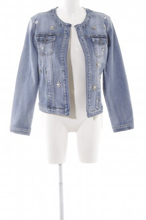 Cartoon Jeansjacke blau Casual-Look