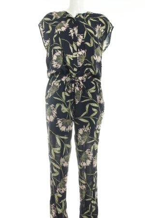 Cartoon Jumpsuit florales Muster Casual-Look