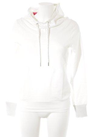 Cartoon Kapuzensweatshirt wollweiß-silberfarben schlichter Stil