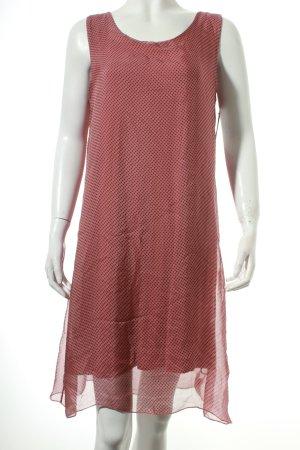 Cartoon Kleid grau-rosa Punktemuster Casual-Look