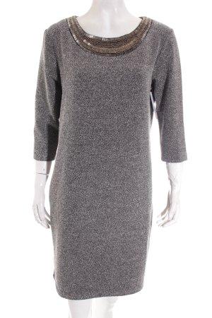 Cartoon Kleid schwarz-weiß meliert Glitzer-Optik