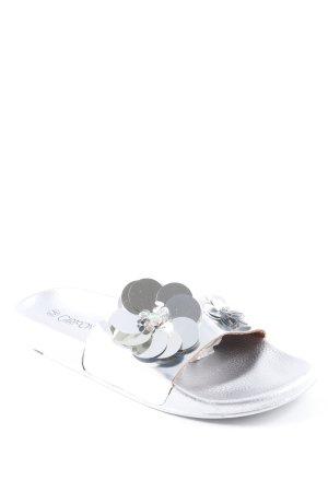 Cartoon Komfort-Sandalen silberfarben extravaganter Stil