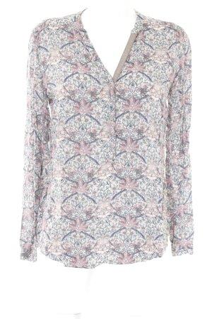Cartoon Langarm-Bluse florales Muster Elegant