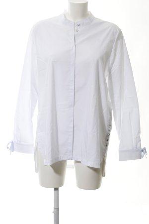 Cartoon Langarm-Bluse weiß Elegant