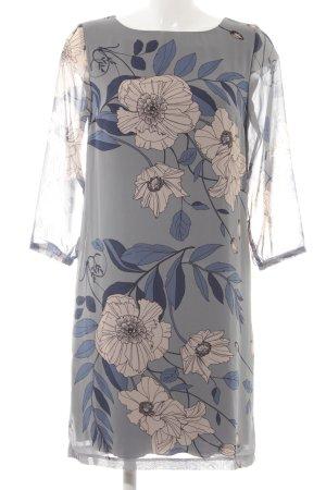 Cartoon Langarmkleid florales Muster Elegant