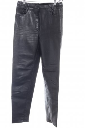Cartoon Leather Trousers black party style